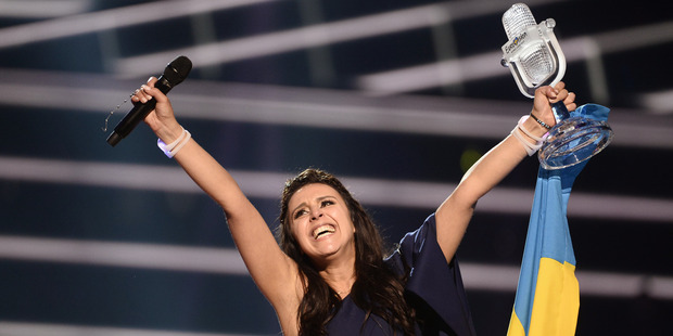 Even though Australia are doing their own thing, SBS is still keen to send someone to represent Australia at Eurovision next year in Kiev, Ukraine. Photo / AP