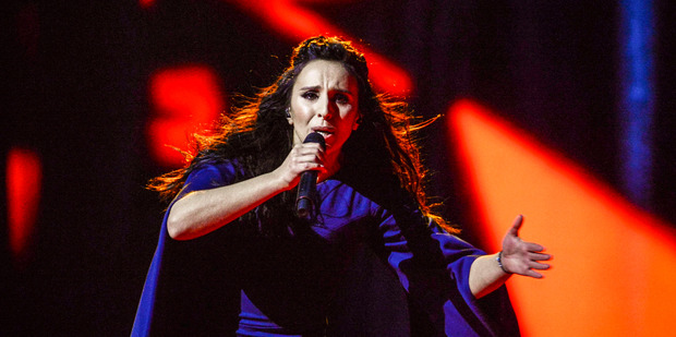 Ukraine's Jamala, real name Susana Jamaladinova, was a surprise winner with her sombre song. Photo / AP