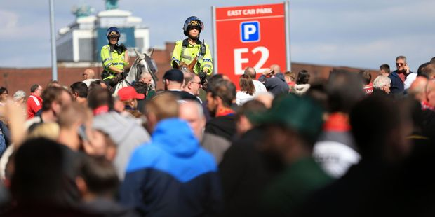 The security firm boss thinks Manchester United over-reacted by evacuating 76,000 fans. Photo / AP