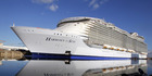 Harmony of the Seas has set sail on its maiden voyage to the UK. Photo / AP