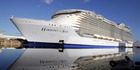 Harmony of the Seas docking at the STX Shipyard in Saint-Nazaire, western France. Photo / AP