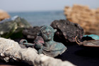 Rare bronze artifacts, part of a large ancient marine cargo of a merchant ship that sank during the Late Roman period 1,600 years ago. Photo / AP