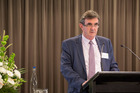 Keith Smith, chairman at Goodman Property Trust, at their annual meeting. Photo / Supplied