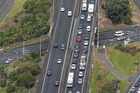 An aerial view of the Mt Wellington interchange of Auckland's Southern Motorway, looking south. Photo / Dean Purcell