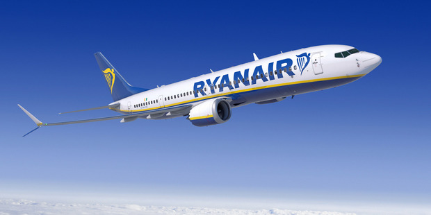 Two passengers on a Ryanair flight bound for Manchester were detained after a bomb threat was made at a Norwegian airport. Photo / File