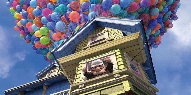 A scene from the film Up, which helped Celine Dion's children deal with the loss of their father. Photo / Supplied.