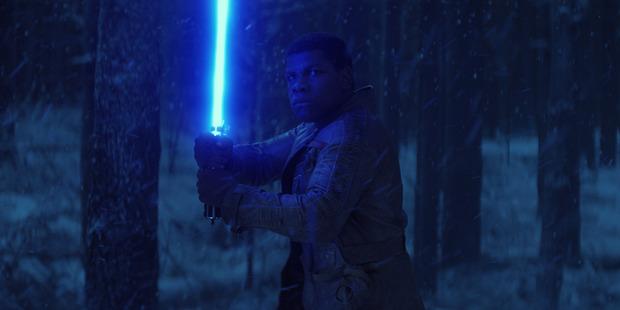 John Boyega stars as Finn in the new Star Wars movies.