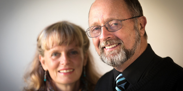 American Harmon Wilfred is a long-term overstayer, who lives in Christchurch. Pictured with his wife Carolyn Dare Wilfred. Photo: Martin Hunter