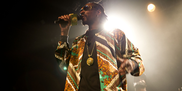 Snoop's had to play down his rap persona for the benefit of the kids. Photo / Richard Robinson