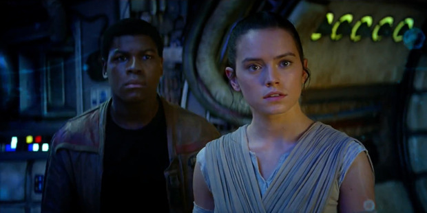 A scene from the movie Star Wars: The Force Awakens.