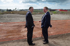 April 26, 2016: Prime Minister John Key with Minister of Housing Nick Smith at the launching of the new affordable housing development at Hobsonville Point. Photo / Brett Phibbs