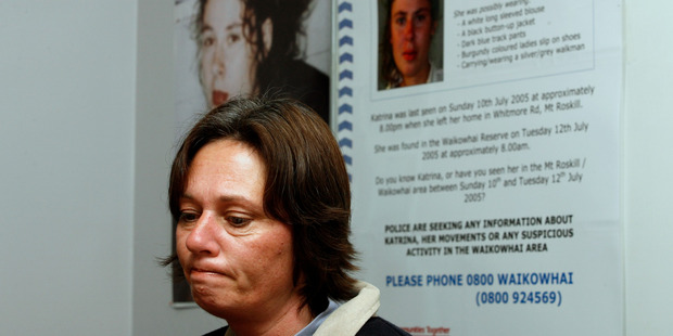 Nicola Jefferies, mother of Katrina Jefferies, at a 2007 press conference where police offered a $50,000 reward. Photo / Dean Purcell