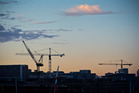 The number of cranes on the skyline of Auckland's CBD is worth the attention we are giving them. Photo / Greg Bowker