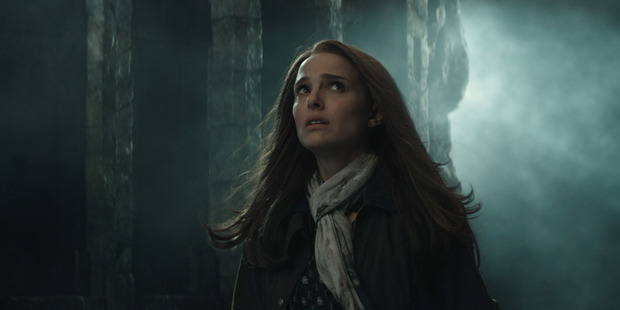 Natalie Portman as Jane Foster in a scene from Marvel's Thor: The Dark World.