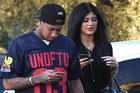 Kylie Jenner and her now ex-boyfriend Tyga. Photo / X17online.com