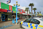 CHASE: A shoplifter was chased down the street by a worker at Four Square, Marewa, this morning. PHOTO WARREN BUCKLAND