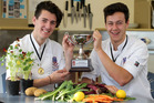 Teammates Samuel Heaven (left) and Daniel Moss used scent, texture and the freshest ingredients for their winning dishes. Photo / Duncan Brown
