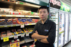 CJ Fu, owner, Marewa Four Square, Napier, caught a shoplifter red-handed. Photo / Duncan Brown