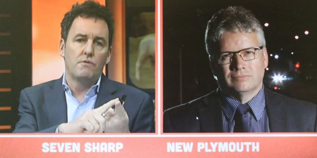 So I watched  Seven Sharp 's item on the resigning Mayor of New Plymouth with a certain sadness. Photo / Seven Sharp