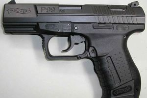 Walther P99 pistol.