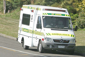 A St John spokesman said an ambulance was called to the accident on Harington Point Rd, near Wellers Rock, just before 1pm.