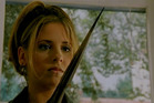 Actress Sarah Michelle Gellar stars as Buffy Summers in the TV series, Buffy the Vampire Slayer.