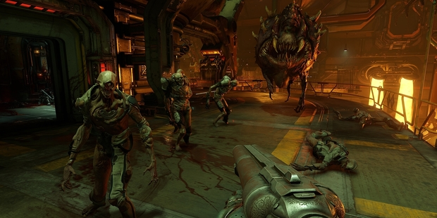 Screenshot from console game Doom.