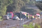 A police officer at the scene has confirmed one person has died in the one car crash on SH2 earlier this morning.   He said the rear passenger has died, while the driver is a status one, in critical condition and was being airlifted to hospital.  The front seat passenger was not seriously injured.  The Serious Crash Unit was investigating the crash.
