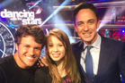 Chandler Powell, Bindi Irwin and Dominic Bowden at DWTS. Photo / Twitter