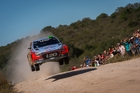 Hayden Paddon and John Kennard showed rivals their wheels in the tough Rally Argentina last month. Photo / Timo Anis