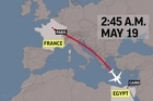 Egyptian air and naval forces have spotted debris from EgyptAir flight 804 that crashed in the Mediterranean Sea, killing 66 passengers and crew who were en route from Paris to Cairo, the Egyptian army and Greek defense minister said Friday.