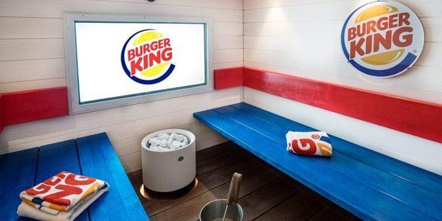 Burger King's latest dining option -  a sauna in Helsinki, Finland. Photo / Facebook
