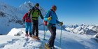 If you're not into skiing, a snowshoe walk is a great way to see the sights. Photo / iStock