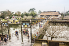 The walkway leading from the entrance building to Thai Hoa palace, at the Imperial City in Hue. Photo / iStock