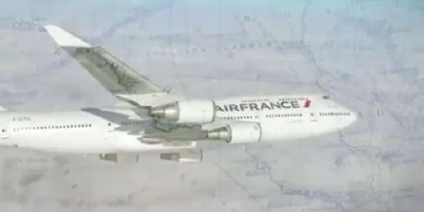 The Isis propaganda video featured an Air France plane. Photo: Supplied