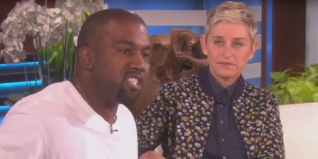 Kanye West goes on a full-blown rant on The Ellen DeGeneres Show. Photo/Ellen