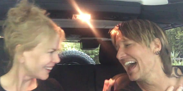 Nicole Kidman and Keith Urban singing their hearts out. Photo / Facebook