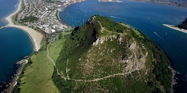 Mauao's summit, overlooking Mount Maunganui, has become a favourite for recreational walkers. Photo/file