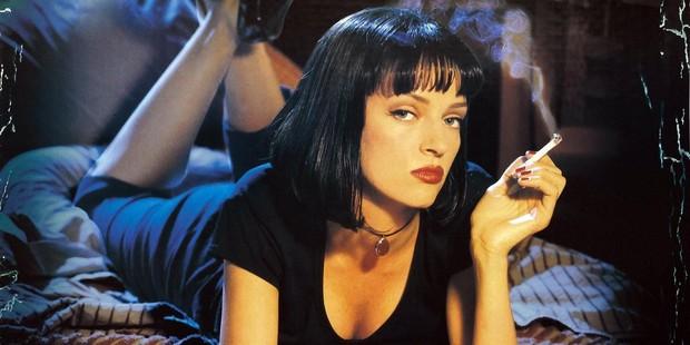 A sultry Uma Thurman in Tarantino's classic Pulp Fiction.