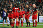 The Crusaders still hold top spot in Super Rugby...just. Photo / Getty