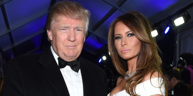 Loading Lady and the Trump ... the next stop for Donald and Melania Trump could be the White House. Photo: Getty Images