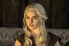 Emilia Clarke as Daenerys Targaryen and Souad Faress as the High Priestess of the Dosh Khaleen in HBO's Game of Thrones. Photo / Helen Sloan, HBO