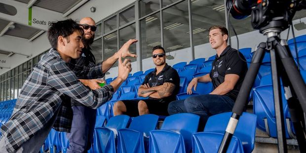 ASB Bank commissioned King to come to New Zealand and create a series of fast clips with the Sevens players in action to depict the speed of the game they love. Photo / Supplied