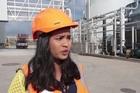 Z Energy senior communications advisor Sheena Thomas at the company's new bio-diesel plant at Wiri, South Auckland.