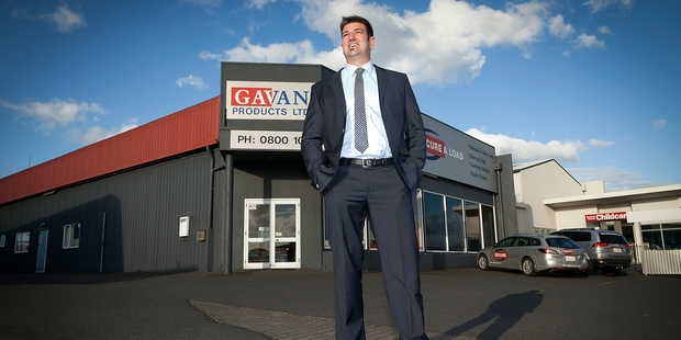 SOLD: Colliers International Tauranga sales and leasing agent Rob Schoeser outside the warehouse he marketed which attracted 25 bidders and sold at auction on Thursday for $1.41 million.PHOTO/ANDREW WARNER
