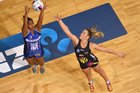 The Mystics (left) fell in a close loss to the Magic (right). Photo / Photosport