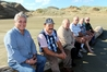 Te Oneroa-a-Tohe/Ninety Mile Beach Board members during the recent beach visit, from left, Haami Piripi (chair), Dover Samuels (deputy chair), Waitai Petera, John Carter, Monty Knight and Dave Collard. Absent are Rangitane Marsden and Graeme Neho.
