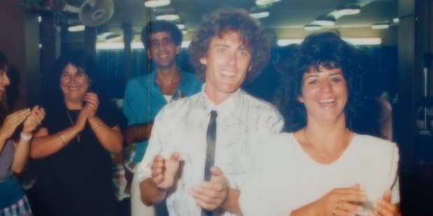 Francis Strange and Haya Bar-Noy at their wedding celebration in Israel in 1986. Photo / Supplied