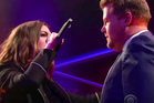 Anne Hathaway and James Corden in an epic rap battle The Late Late Show.