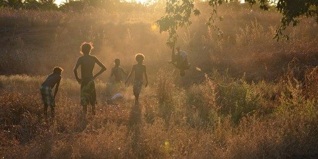 Children play in Aurukun in Queensland. Photo / Facebook
